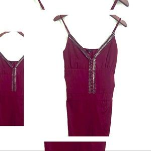 The Clothing Company - Red Jeweled Jumpsuit - M